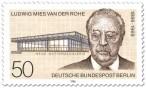 Briefmarke zu Ehren von Mies van der Rohe (Berlin, 1986)