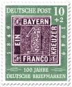 100 Jahre deutsche Briefmarken (Ein Kreuzer)