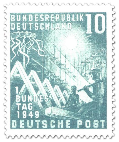 Briefmarke: Erster Deutscher Bundestag (10)