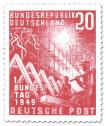 Briefmarke: Erster Deutscher Bundestag (20)