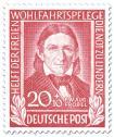 Briefmarke: Pädagoge Friedrich Fröbel (Pädagoge)