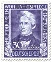Wohlfahrtsmarke 1949: Johann Hinrich Wichern