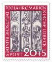 Briefmarke: 700 Jahre Marienkirche Lübeck  - Wandmalerei (20+5)