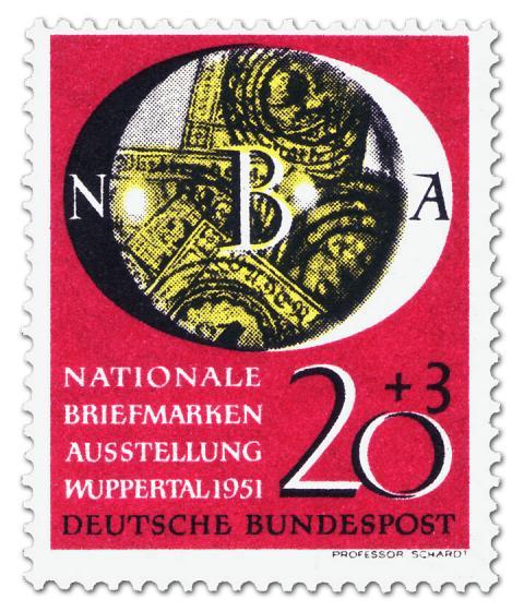 Briefmarke: Nationale Briefmarkenausstellung in Wuppertal (20+3)