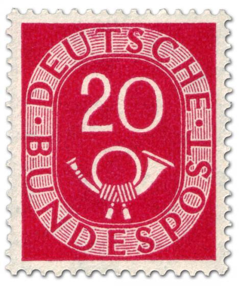 Briefmarke: Posthorn 20 Pfennige