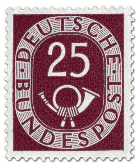 Briefmarke: Posthorn 25 Pfennige