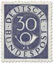 Briefmarke: Posthorn 30 Pfennige