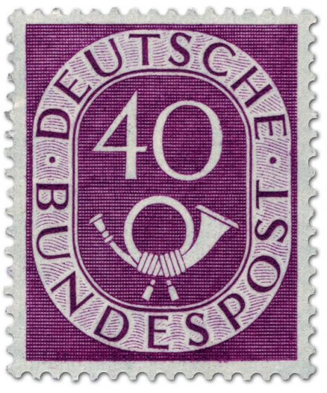 Briefmarke: Posthorn 40 Pfennige