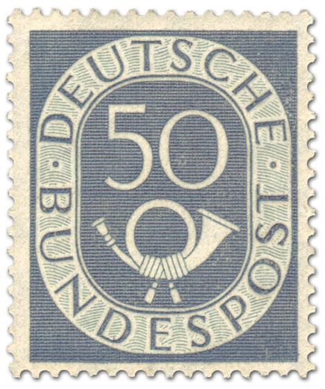 Briefmarke: Posthorn 50 Pfennige