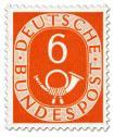 Briefmarke: Posthorn 6 Pfennige
