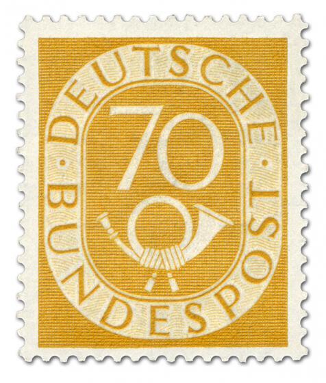 Briefmarke: Posthorn 70 Pfennige