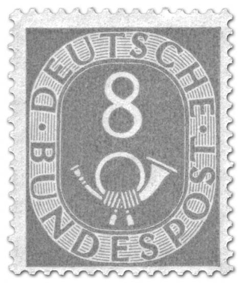 Briefmarke: Posthorn 8 Pfennige