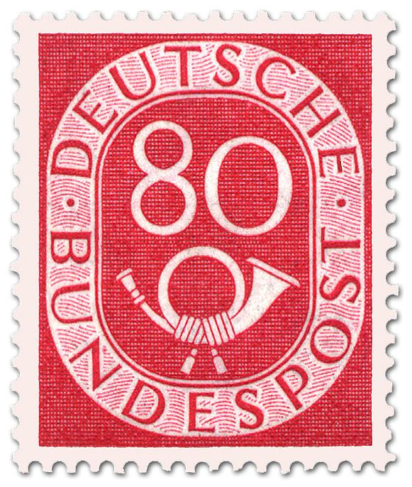 Posthorn 80 Pfennige Briefmarke 1951