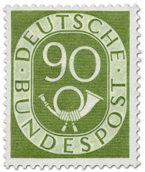 Briefmarke: Posthorn 90 Pfennige