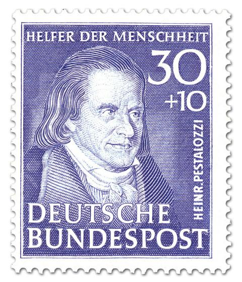 Briefmarke: Johann Heinrich Pestalozzi (Pädagoge)