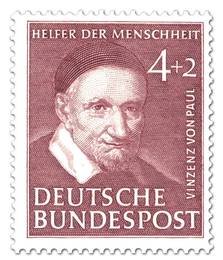Vinzenz Von Paul Caritas Briefmarke 1951