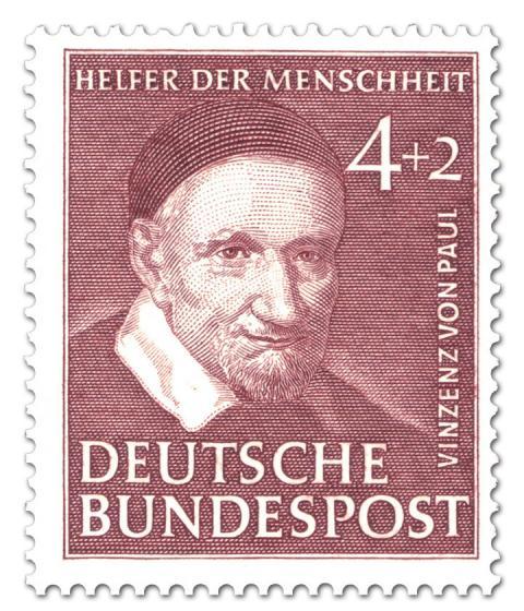 Briefmarke: Vinzenz von Paul (Caritas)