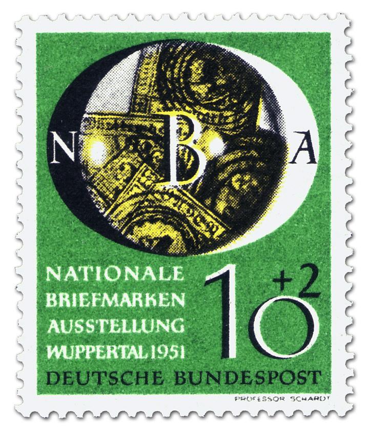 Nationale Briefmarkenausstellung In Wuppertal 102 Briefmarke 1951