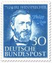 Briefmarke: Philipp Reis (Erfinder des Telefons)