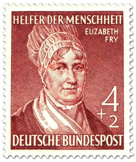 Briefmarke: Elizabeth Fry (Gefängnis Reformerin)