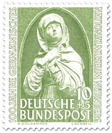 Briefmarke: Madonna - 100 Jahre Germanisches Nationalmuseum Nürnberg