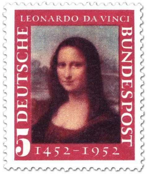 Briefmarke: Mona Lisa - Gemälde von Leonardo da Vinci
