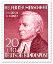 Briefmarke: Theodor Fliedner (Pfarrer) - Erneuerer der Diakonie
