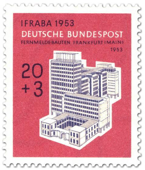 Briefmarke: Fernmeldebauten Frankfurt/Main (IFRABA)