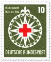 Rotes Kreuz auf Windrose (für Henri Dunant)