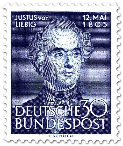 Briefmarke: Justus von Liebig (Chemiker, Naturforscher)