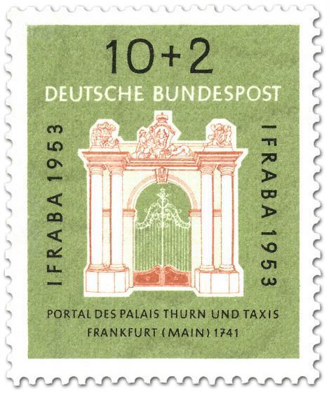 Briefmarke: Portal des Palais Thurn und Taxis (IFRABA)