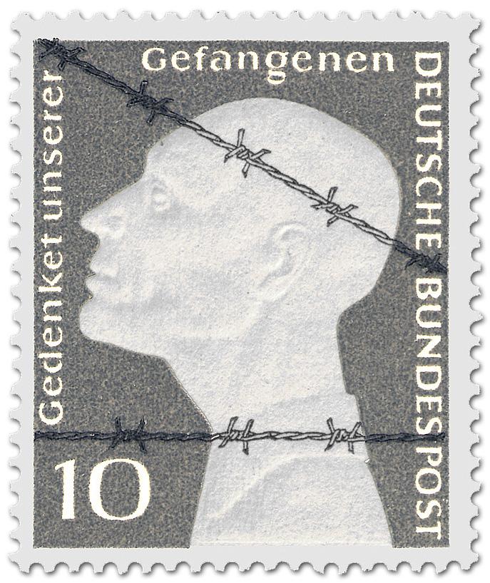 Stacheldraht Deutsche Kriegsgefangene Briefmarke 1953