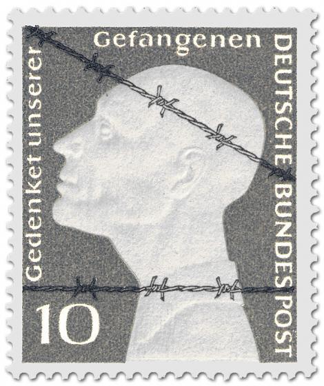 Briefmarke: Stacheldraht - Deutsche Kriegsgefangene