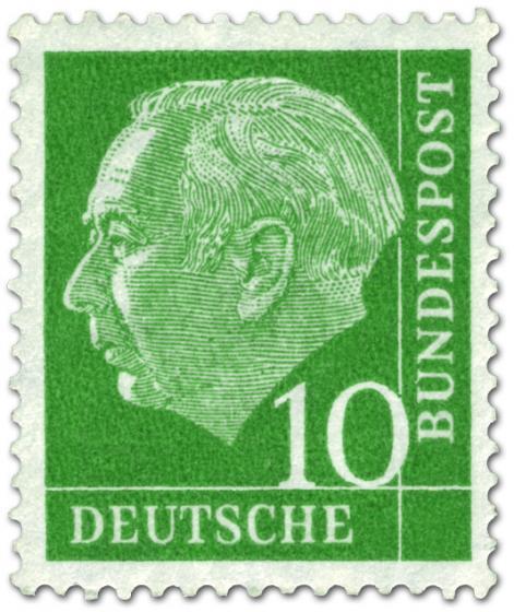 Briefmarke: Bundespräsident Theodor Heuss 10