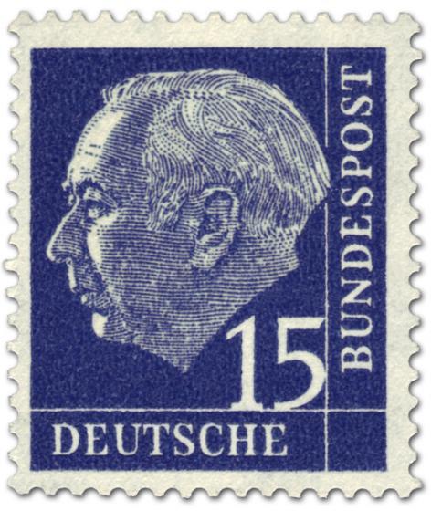 Briefmarke: Bundespräsident Theodor Heuss 15