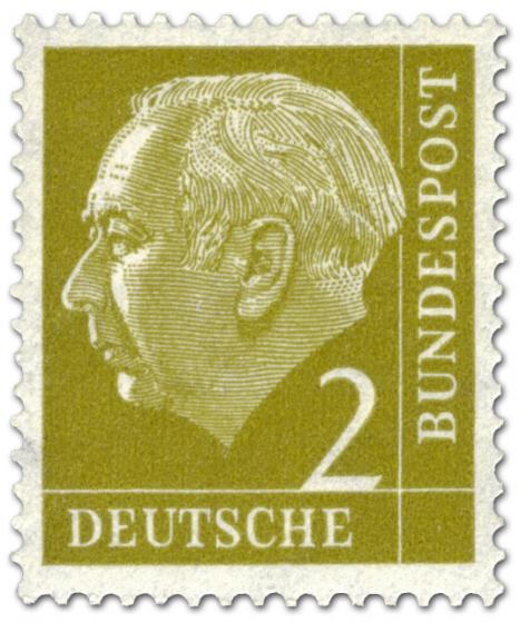 Briefmarke: Bundespräsident Theodor Heuss 2