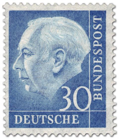 Briefmarke: Bundespräsident Theodor Heuss 30