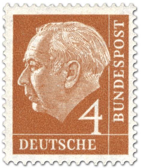 Briefmarke: Bundespräsident Theodor Heuss 4