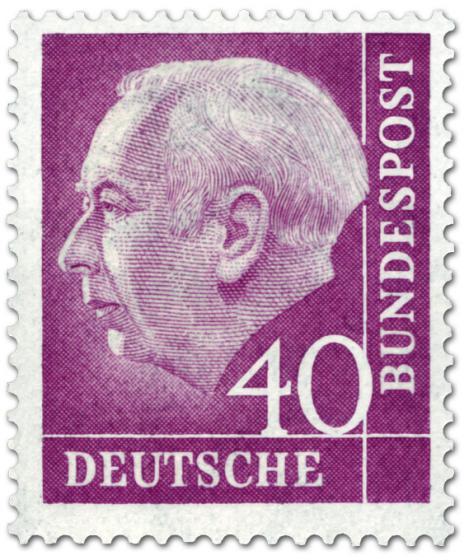 Briefmarke: Bundespräsident Theodor Heuss 40