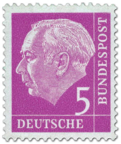Briefmarke: Bundespräsident Theodor Heuss 5