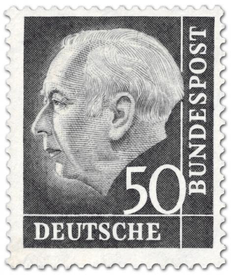 Briefmarke: Bundespräsident Theodor Heuss 50