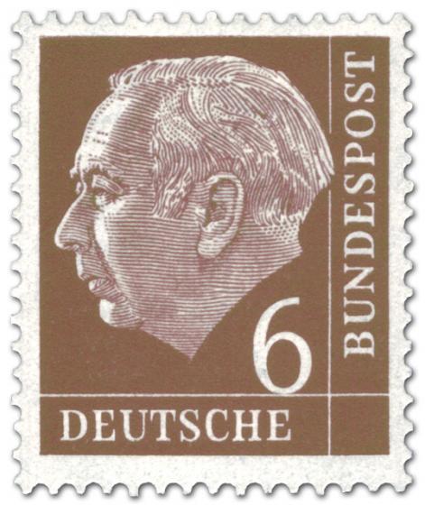 Briefmarke: Bundespräsident Theodor Heuss 6