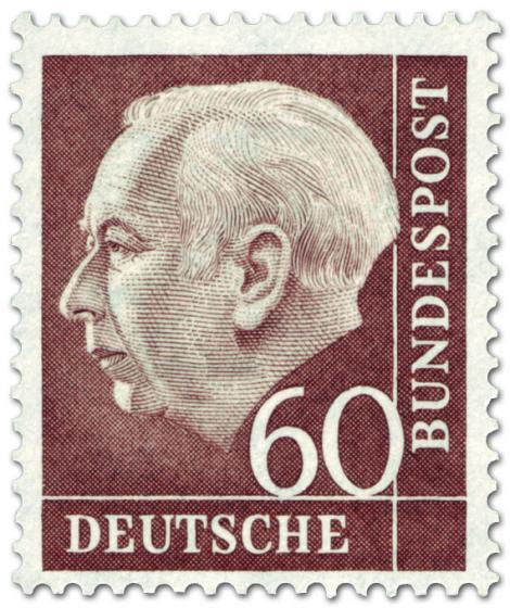 Briefmarke: Bundespräsident Theodor Heuss 60