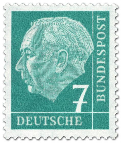 Briefmarke: Bundespräsident Theodor Heuss 7