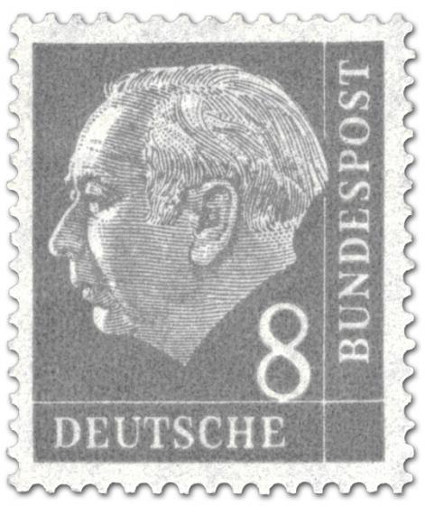 Briefmarke: Bundespräsident Theodor Heuss 8