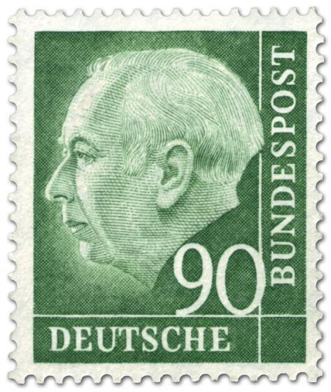 Briefmarke: Bundespräsident Theodor Heuss 90