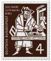 Briefmarke: Gutenberg Bibel (Buchdruck)