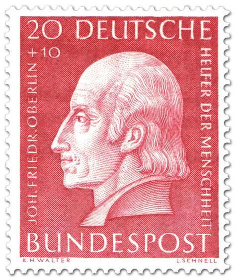 Briefmarke: Johann Friedrich Oberlin (Pfarrer)