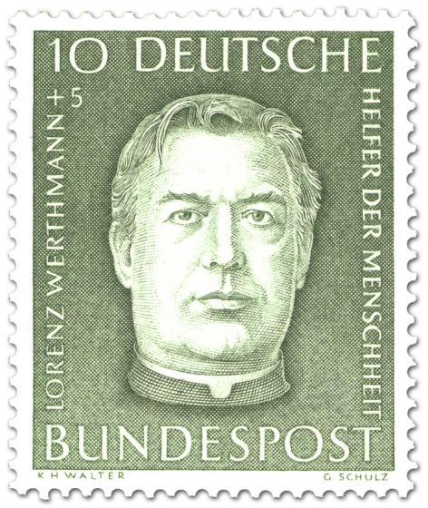 Briefmarke: Lorenz Werthmann (Präsident der Caritas)