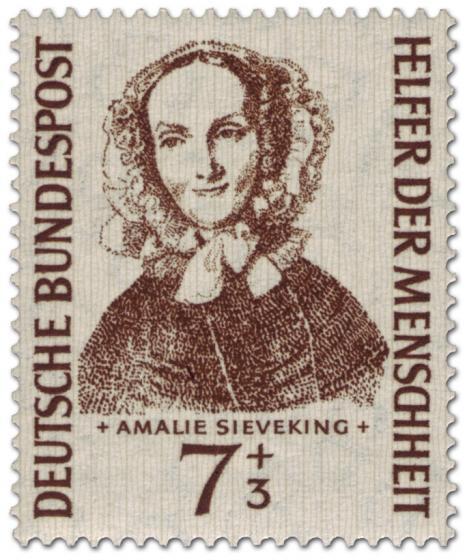 Briefmarke: Amalie Sieveking (Mitbegründerin der Diakonie)